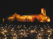 Château de Ljubljana by night